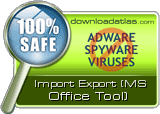 Import Export (MS Office Tool) is clean!